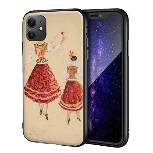 Bernardo Marques para iPhone 11 Funda/Art Cellphone Case/Giclee UV Reproduction Print on Mobile Phone Cover (Disfraz de Bailarina)