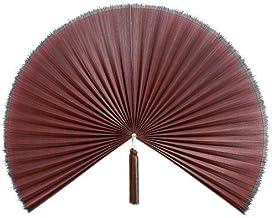 "Artera Large 60"" Bamboo Folding Wall Fan - Solid Red Plum Unpainted - Original Wall Fan (Red)"