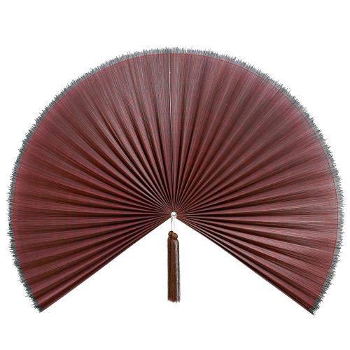 Artera Large 60' Bamboo Folding Wall Fan - Solid Red Plum Unpainted - Original Wall Fan (Red)