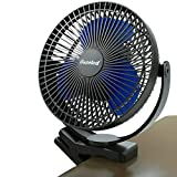 Clip Fan Battery Operated, 8 Inch 10000mAh Rechargeable Fan for Baby, 4 Speeds & 10W Fast Charging, Portable...