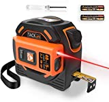 TM-L01 2-in-1 Laser Tape Measure,131 Ft Laser Measure, 16 Ft Metric & Inches Tape Measure with LCD,Movable Magnetic Hook,Screwdriver, Nylon Coating and Wrist Strap for DIY&Construction