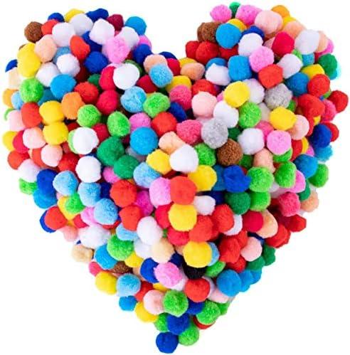 300 Pieces 1 Inch Assorted Pom Poms Craft Pom Pom Balls Colorful Pompoms for DIY Creative Crafts product image