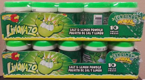 Jovy Limonazo Mexican Candy Salt & Lemon Powder Pack of 2 (Total of 20 Pieces)