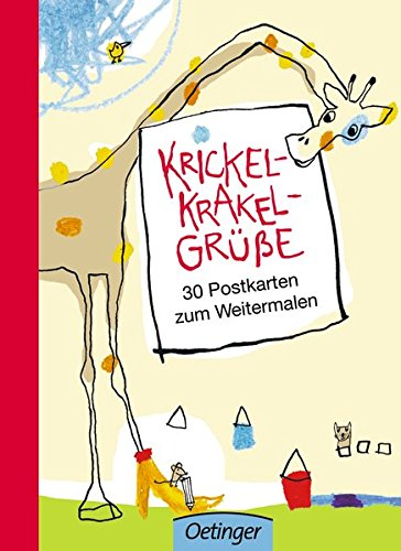 Krickel-Krakel-Grüße: 30 Postkarten zum Weitermalen