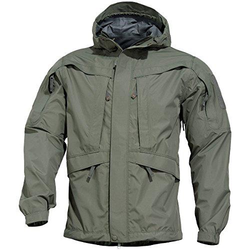 Pentagon Monsoon Herren Rain-Shell Jacke Grindle Grün size M
