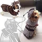 Coppthinktu Sherlock Holmes Hundekostüm – berühmte Detektiv-Hunde-Kostüm, X-Small, mehrfarbig