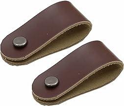 2 stuks zacht lederen meubels trekgrepen voor deuren kasten dressoir, deurknoppen kast schoen/wijnkast meubels handgrepen ...