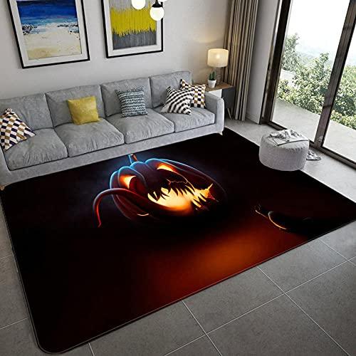 Home Alfombra De Diseño Alfombras Salon Grandes Linterna de Calabaza con Tema de Halloween 160x280CM(5'3''x9'2'')