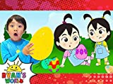 Cartoon Ryan's Magical Easter Egg Hunt with the Twins!