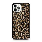 Elegante marrón impresionante negro manchado leopardo animal patrón cubierta de la caja del teléfono (modelo de teléfono: Apple iPhone 7)