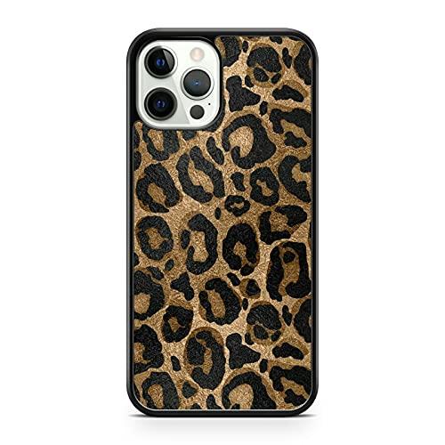 Elegante marrón impresionante negro manchado leopardo patrón animal teléfono caso cubierta (modelo de teléfono: LG G7 ThinQ)