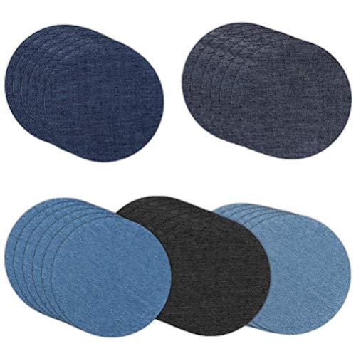 Opplei patches om op te strijken 30 stuks patch stickers DIY zakken strijkpatch katoen strijkijzer denim patches jeans reparatieset voor kleding reparatie