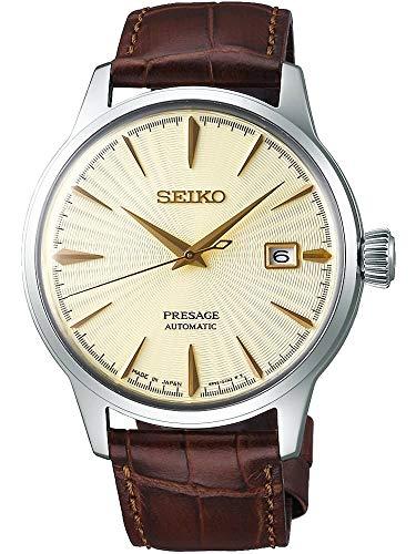 Seiko presage Reloj para Hombre Analógico de Automático con Brazalete de Piel de Vaca SRPC99J1