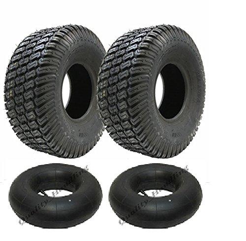 Zwei neue - 13x5.00-6 4ply Rasen Rasenmäher Reifen und Schläuche 13 500 6 Reifen fahren auf Rasenmäher