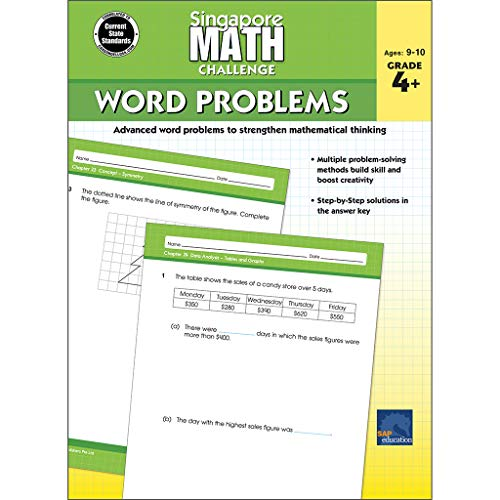 Singapore Math Challenge Word Problems Grade 4+