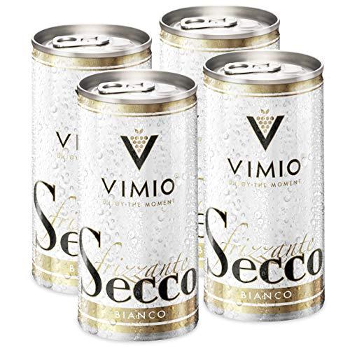 4 x Vimio Secco Frizzante Bianco Perlwein Weiß 10,5{69f7c916cce01d079cd9d8f50b22e0d7ddcfffe0e4cd0215ce4ae9f93f0f1769} vol. 200 ml Dose