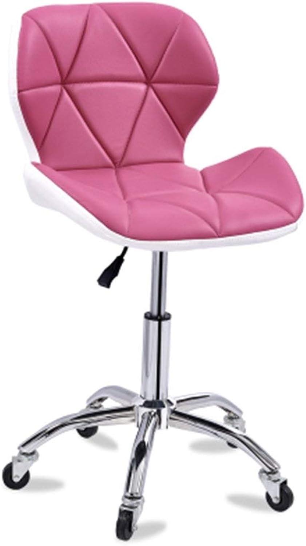 Creative Bar Chair Modern Minimalist Home European redating Bar Chair Bar Stool Can Be redated Simple GFMING (color   Pink)