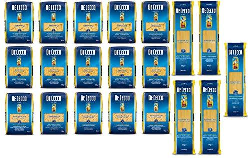 TESTPAKET De Cecco italienisch Pasta ( 20 x 500g ) 4 Arten von Nudeln Penne Rigate - Fusilli - Spaghetti - Rigatoni