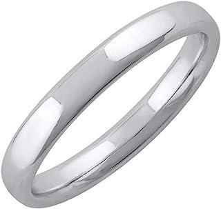 950 خاتم زفاف سادة بلاتيني 3.2 مم
