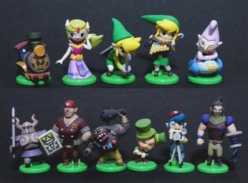 The Legend of Zelda: Spirit Tracks Legend of Zelda Spirit Tracks 2 Inch PVC Set of 11 Figures