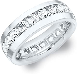 4 CTTW Men's Diamond Eternity Ring in Platinum (4.0 cttw, F-G Color, VS1-VS2 Clarity)