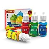 Nomeca Food Coloring, 4 Colors Vibrant Liquid Food Colors Cake Decorating Dye Set, Tasteless for...