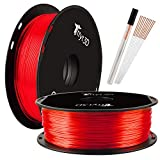 Shiny Silk Red 1.75mm 3D Printer PLA Filament, 1kg 2.2lbs Spool Widely Compatible 3D Printing TTYT3D