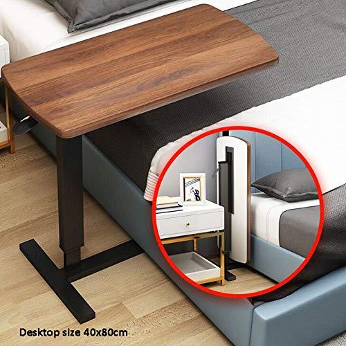 TTXP Steel Pipe Art Desks For Adults with Dark Oak Panel,Foldable,Laptop Support for Bed Sofa, Standing Desk, Folding Laptop Desk