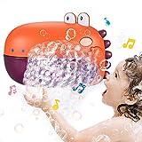JoyLife Juguetes de baño Máquina de Burbujas, Soplador automático de Burbujas silencioso con Canciones Infantiles Musicales,Bubble Maker para niños Pequeños