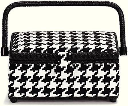 Prym Glencheck Quality inspection Small Lowest price challenge Craft Black White Basket Storage