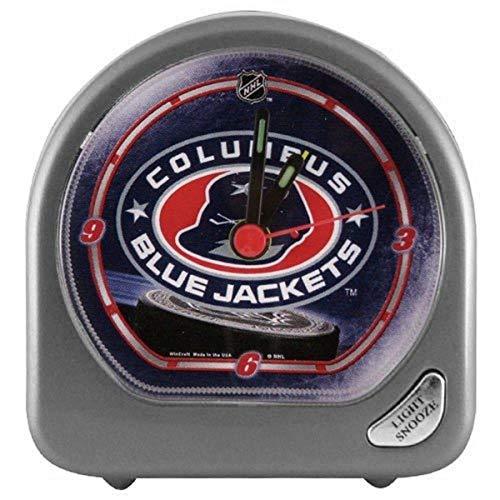 WinCraft NHL Columbus Blue Jackets Alarm Clock, Black