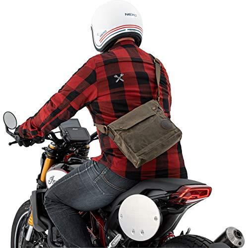 QBag Motorradtasche Motorrad Tasche/Hülle/Etui Umhängetasche Canvas Retro 5 Liter Stauraum, Unisex, Casual/Fashion, Ganzjährig, Textil, grün