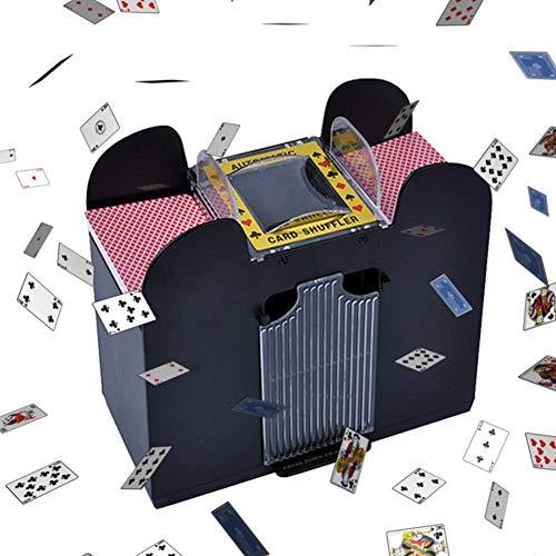 Elektrische Automatische Kartenmischmaschine-2 Deck Automatic Card Shuffler -Playing Card Plastikbetriebener Elektrischer Shuffler 1-2 Deck Poker Sorter -Mixer-Maschine Für Party-Unterhaltung (#03)
