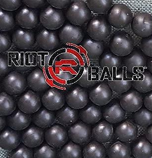 Riot Balls 100 X 0.68 Cal. Black PVC/Nylon Self Defense Less Lethal Practice Paintball
