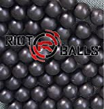 Black 100 X 0.68 Cal. PVC Nylon Riot Balls Self Defense Target Practice Paintballs Paintball Games …