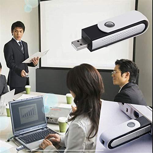Drehbarer gesunder USB-Ionisator Ionischer Luftreiniger Handlich Frisch für PC Laptop Home Office-Reiniger Halten Sie die Luft sauber Tragbar - Schwarz & Weiß