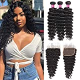 Best Hair Bundles With Laces - One More Brazilian Deep Wave Bundles with Closure Review