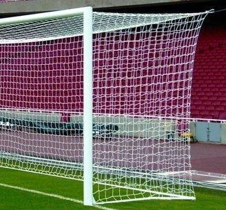 Fußballtornetz - Tornetz - 7,5 x 2,5 x 2 x 2 m - verschiedene Farben - PP 4,5 mm - Kastenform (Weis)