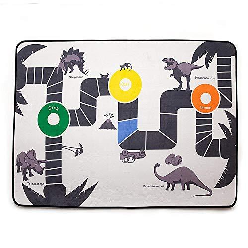 QUUY baby kruipmat kinderen pedagogisch speelmat met dinosaurus patroon, synthetische vezel antislip kinderslaapkamer speelmat voor jongens meisjes geschenk 100 x 140 cm