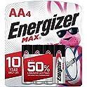 4-Count Energizer Max AA Alkaline Batteries
