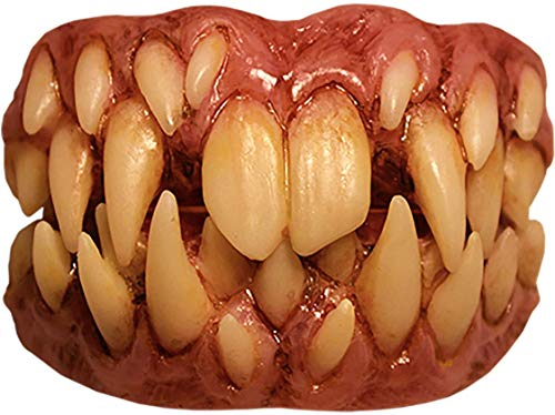 Trick or Treat Studios It Pennywise Fang Teeth for Adults, One Size, Creepy Prosthetic Features Rows of Scary Teeth