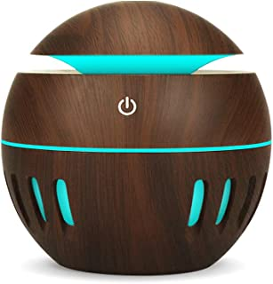 K KBAYBO USB Essential Oil Diffuser, 130ml Small Ultrasonic Cool Mist Humidifier with LED Night Light for Office Home Bedr...