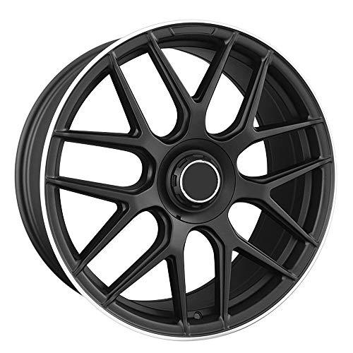 Mate Negro Wishbone Stain Rueda de fundición de aleación de Aluminio Cubo de la Rueda Llanta para Mercedes Benz GLE GL GLC GLK ML E320L S500,21'/8.5J