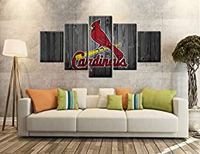 Cardinals Wall Decor Posters with Frame Wall Art Canvas Prints Decoration Baseball Team..