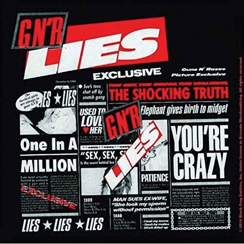Guns N  Roses Coaster Lies album nuovo Ufficiale 9.5cm x 9.5cm Cork single drink