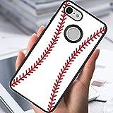 SoLucky Google Pixel 3 Case Abstract Baseball Art Slim Lightweight Body Shockproof Cellphone Cover Hard Plastic Black Frame Case for Google Pixel 3 1 Pack