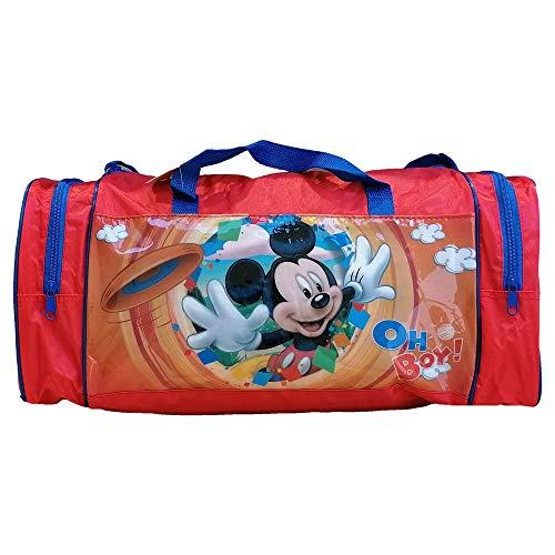 Borsone Topolino Mickey Mouse Disney Borsa da Viaggio Palestra 2 Tasche Laterali CM. 44X25X21 - AS9367/R