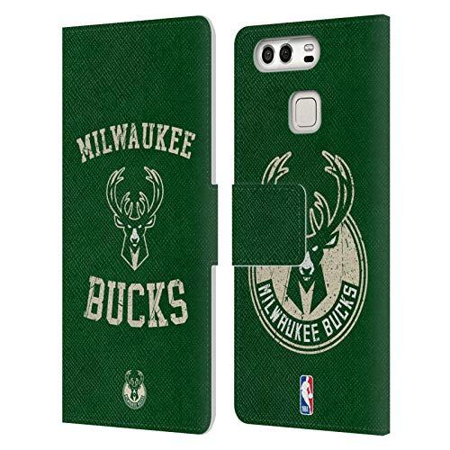 Head Case Designs Ufficiale NBA Aspetto Sdrucito 2019/20 Milwaukee Bucks Cover in Pelle a Portafoglio Compatibile con Huawei P9