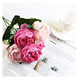 YINGNBH Rosas Artificiales Pequeño peonía de Estilo Coreano Pequeño Mango Rose Flor Artificial casa casero Boda Ramo de Rosa (Color : Rose Pink)