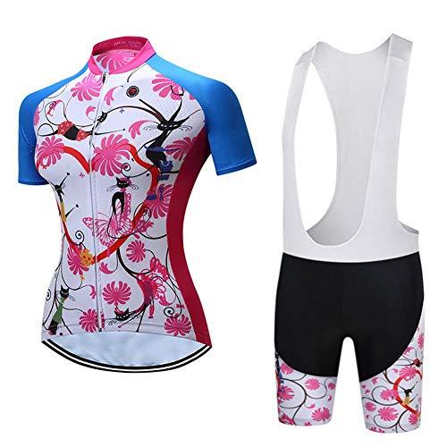 Maillot Ciclismo Mujer Cclismo Conjunto de Ropa Culote Pantalones Acolchado 3D para...